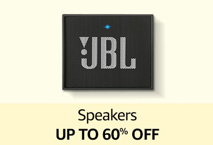 Speakers up to 60% off