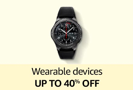 Wearable devices up to 40% off