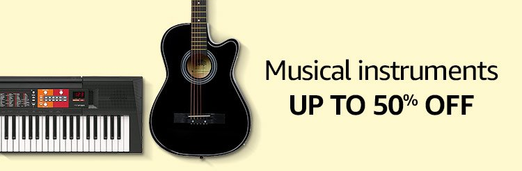 Musical instruments up to 50% off