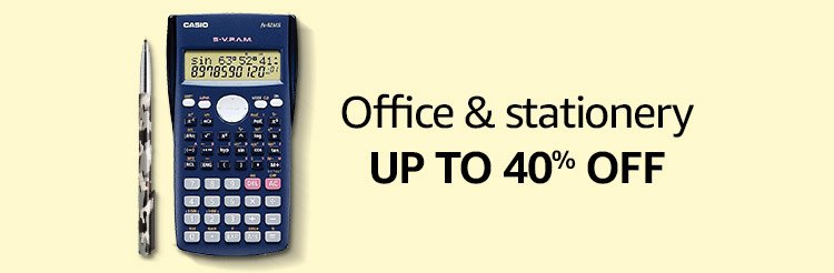 Office & stationery up to 40% off