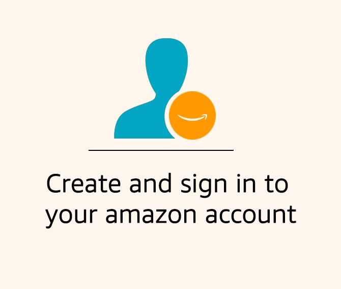 Create and sign in to your amazon account