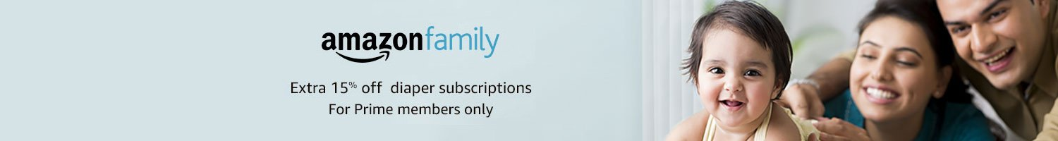 Amazon Family- Extra 15% off diaper subscriptions. Prime members only