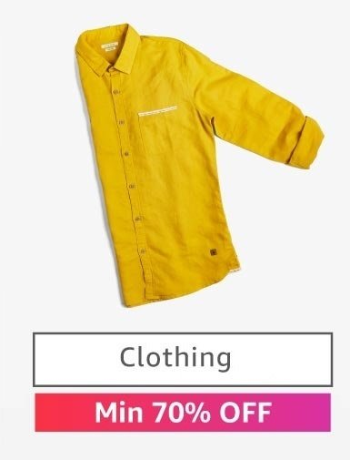Clothing: Min 70% off