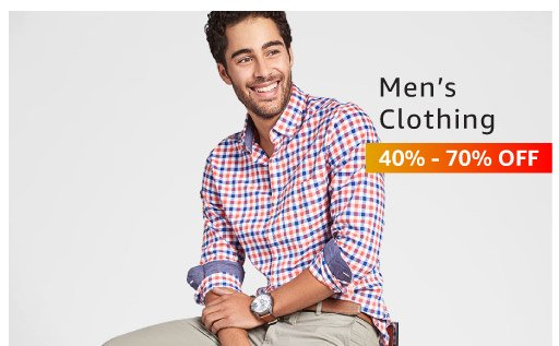 Mens clothing 40% - 70% off