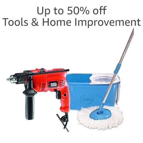 Up to 50% off tools & home improvement