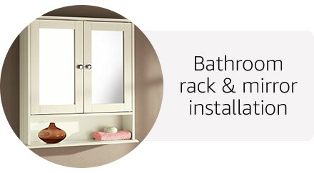 Bathroom rack & mirror installation