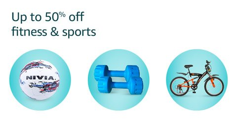 Up to 50% off fitness & sports
