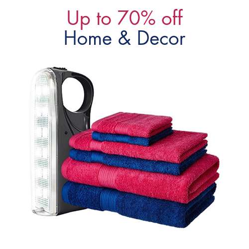 Up to 70% off: Home & Decor