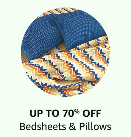 Up To 70% Off Bedsheets & Pillows