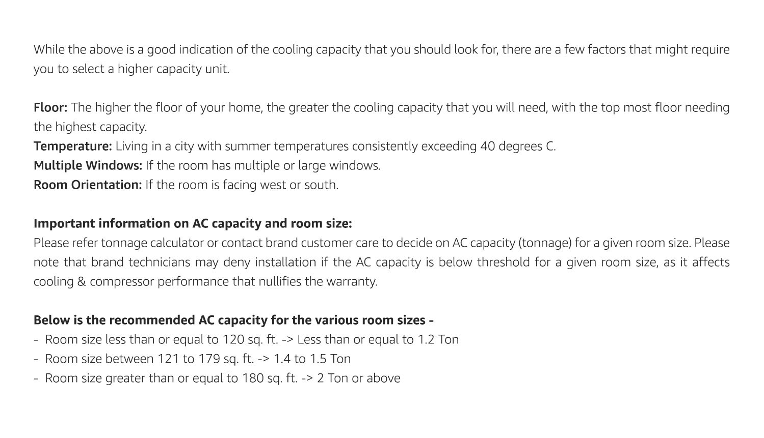 Amazon in: AC buying guide: Home & Kitchen