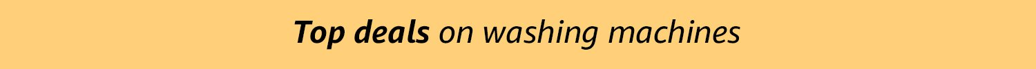 top deals on washing machines