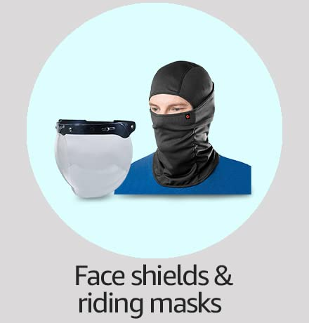 face shield and mask