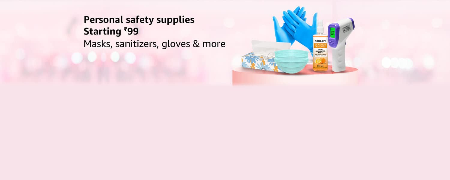 Amazon Offers Today-Coupons-Promo Codes - Personal Safety Supplies starting at just ₹99