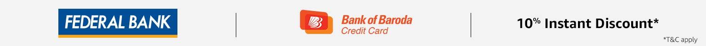 Federal Bank + Bank of Baroda