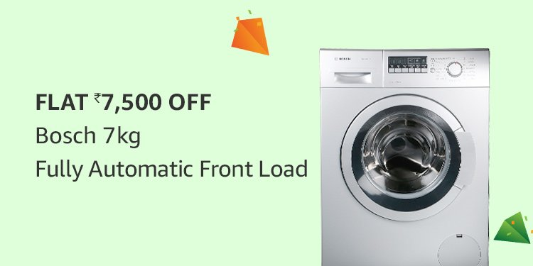 Flat Rs.7,500 off Bosch 7 kg Fully Automatic Front Load