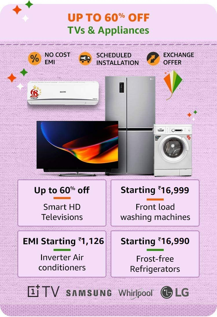 60% Off TV and Home Appliances