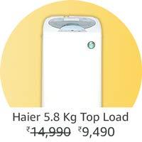 Haier 5.8kg top loading