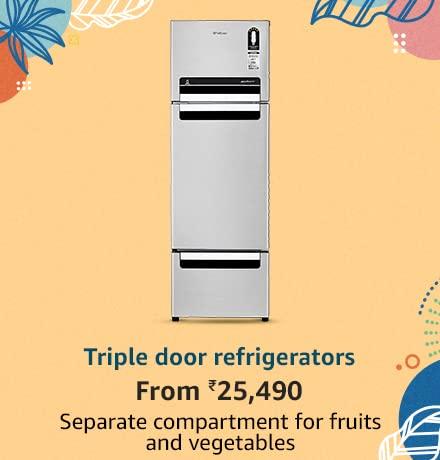Triple door refrigerators