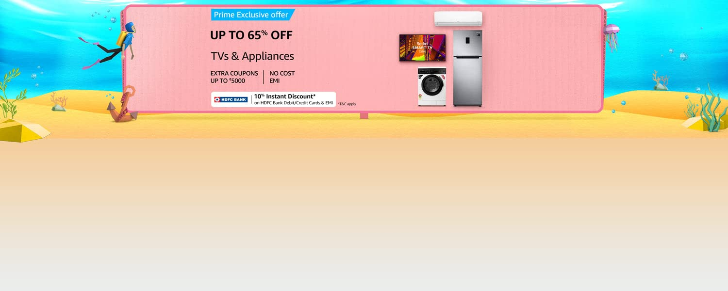 Amazon Offers Today-Coupons-Promo Codes - Up to 65% off on TVs and Appliances
