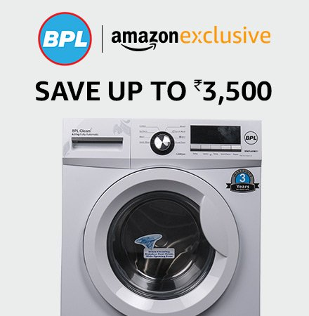 BPL washing machines