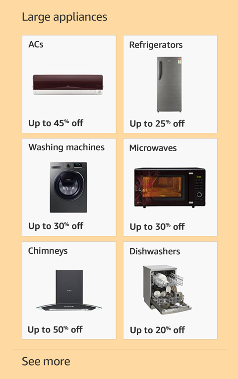 Offers on Large appliances
