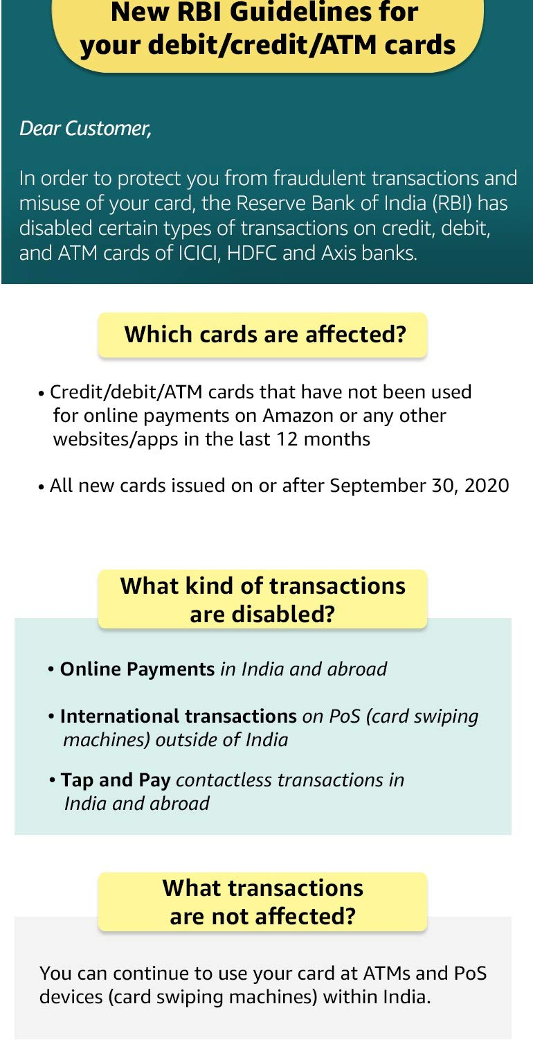 FAQs - Frequently asked questions -  New RBI Guidelines for DEBIT, Credit, ATM Cards..