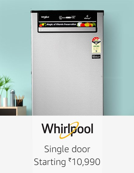 whirlpool single door