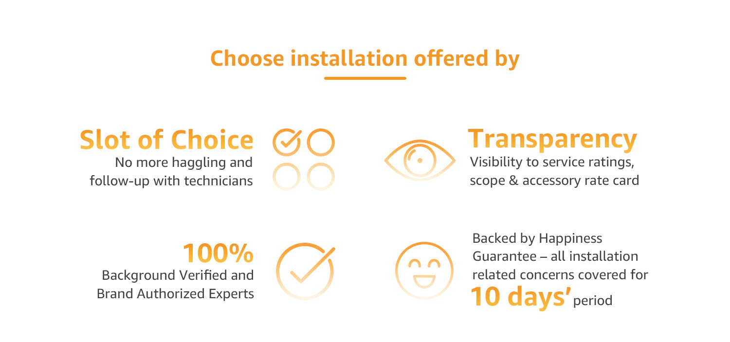Choose installation offered by amazon