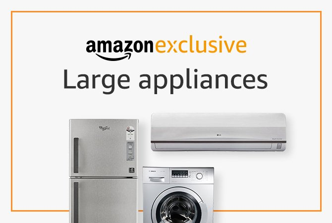 appliances only on amazon