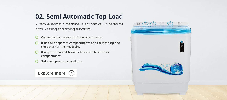 Semi Automatic  Top Load