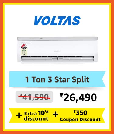 Voltas 1 ton 3 star split