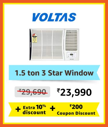Voltas 1.5 ton 3 star window