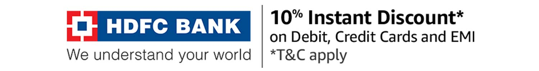 HDFC 10% instant discount