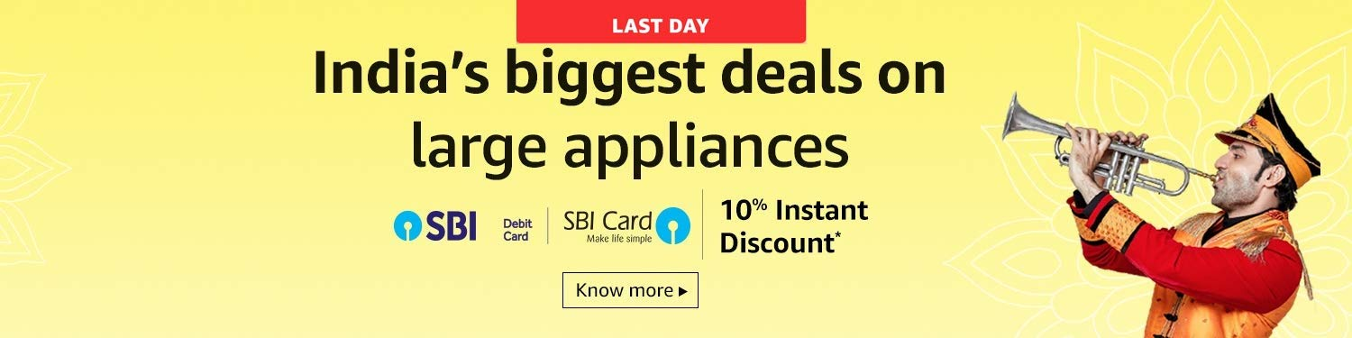 India's biggest deals on Large appliances