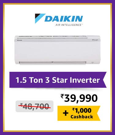 Daikin 1.5 Ton 3 Star Inverter