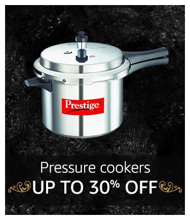 Pressure Cookers Up to 30% off