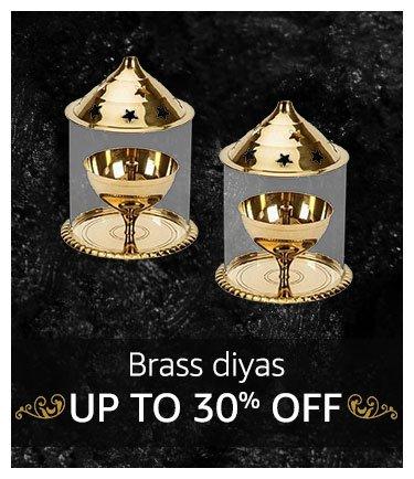 Brass diyas Up to 30% off