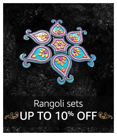 Rangoli Sets : Up to 10% off