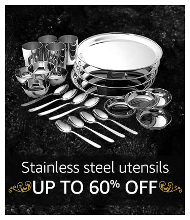 Stainless steel utensils Up to 50% off
