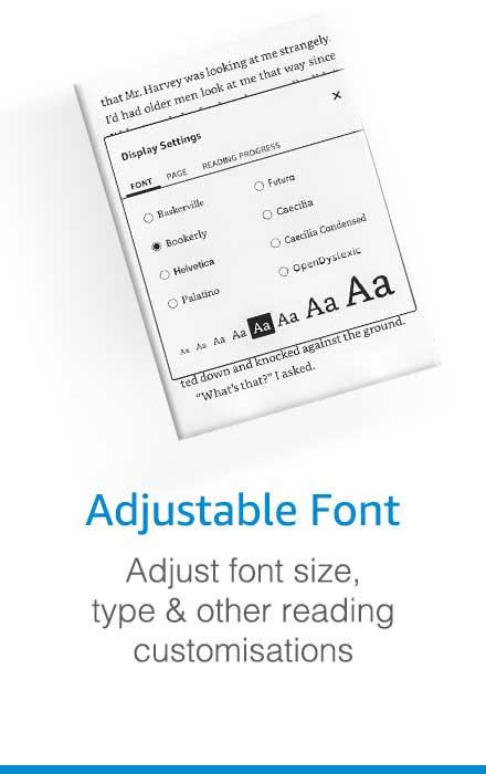 Adjustable Font