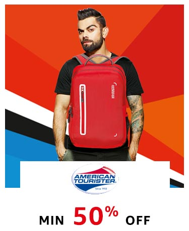 American Tourister : Min 50% Off