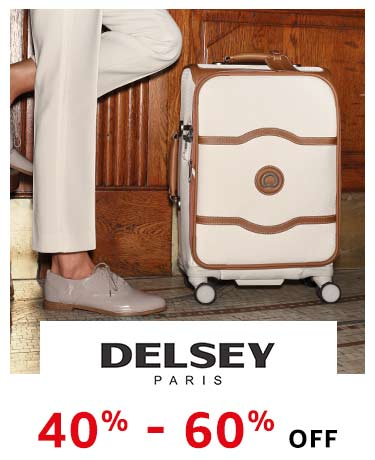 Delsey : 40% - 60% off
