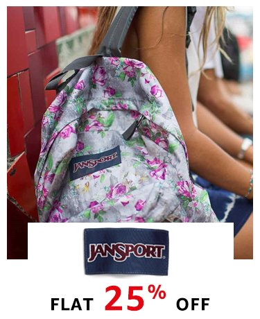 Jansport: Flat 25% off
