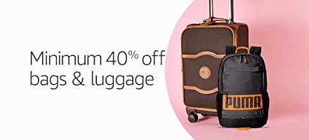 Min 40% off: bags and luggage