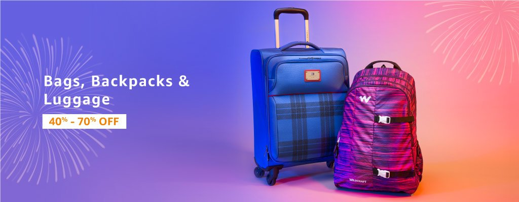 Bags, Backpacks & Luggage : 40%- 70% off