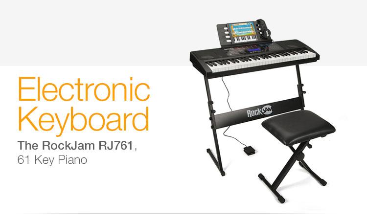 The RockJam RJ561, 61 Key Piano