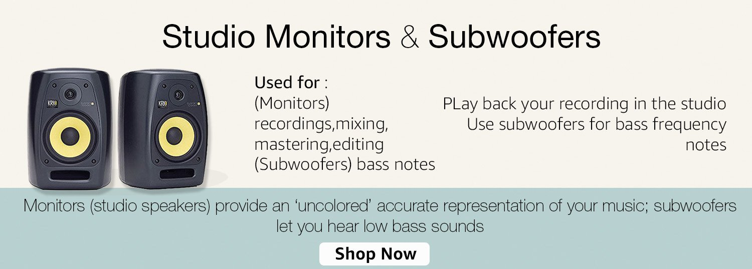 Studio Monitors & Subwoofers