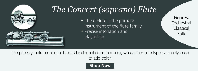 The concert (soprano) flute