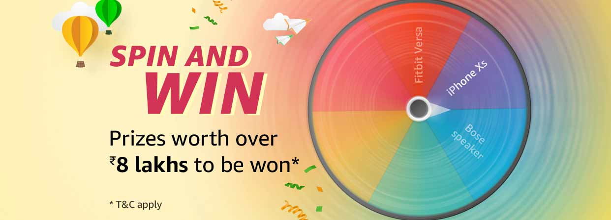 Spin & Win - January 2019 Winners @ Amazon in