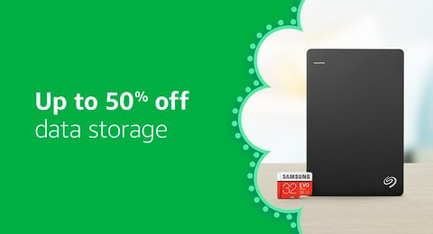 Up to 50% off Data Storage